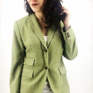 J. Crew : Green Wool Schoolboy Blazer Size 8